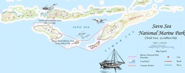 Wilayah Taman Nasional Perairan Laut Sawu {Sumber: Website TNP Laut Sawu}