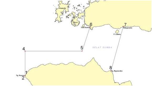 Titik-titik Ordinat TNP Laut Sawu {sumber: Website TNP Laut Sawu}