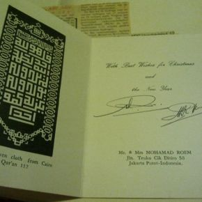 Kartu Natal dalam buku MohamadRoem